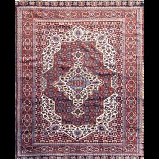 """Fine Persian rug Qashqai Walnut color 4'5X6'1"""""""