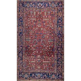 Heriz room rug made in Persia 6'7X9'6 feet