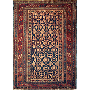 "Antique Kuba (Quba) area rug 3'11""X5'3"""