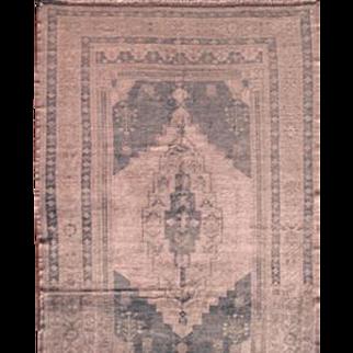 """Vintage area rug Oushak 5'9""""X10'7"""" Rose Quartz color"""
