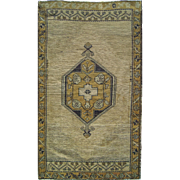 "20th Century turkish rug Oushak 2'7""X4'6"""