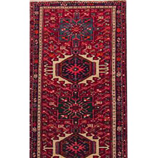 "Persian runner Karajeh 2'8""X9'6"" Early 20th Century"