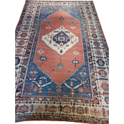 Antique Persian Bakhshayesh Rug Size: 11.9 x 17.0