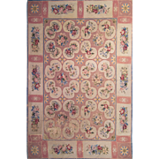 "Antique French Needlepoint rug 6' 0"" x 8' 6"""