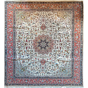 Large Persian Rug Tabriz Design 8'6X10'5 Made with Fine Wool