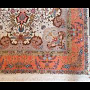 Tabriz Design Persian Silk rug 70Raj quality extremely fine 5'3X7'7