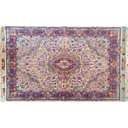 Extremely Fine Tabriz Persian rug 5'3X8'1 Wool & Silk 70 Raj Fine Quality Medallion design