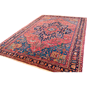 Antique Persian rug Heriz Geometric Design Excellent quality traditional 8'3X11'5 feet