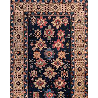 Shirvan Area Rug Handknotted Wool 3'9X7'1 circa 1920