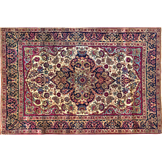 Area Rug Kerman Lavar Persian 4X6 perfect condition