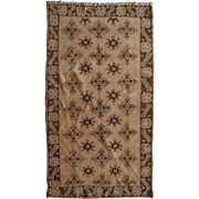 Antique Wool Rug Oushak Turkish 3'4X5'8 circa 1890