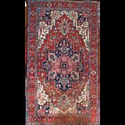 Large Area Rug Serapi fine Wool 10'X12' 19th Century Persian Rug