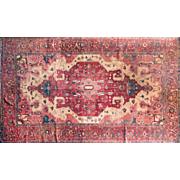 Large Wool Rug Persian Design Serapi 9'5X13'9 circa 1920