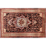 Semi Antique Persian Carpet Bidjar Gholtogh Design 3'7X5'3 Area Rug