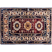 Antique Russian Rug Kuba Design circa.1900 fine wool small carpet