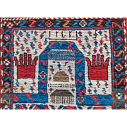 Tribal Prayer Rug Gange Wool 3'X5'3 Russian made