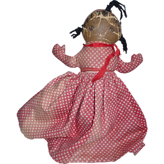 Georgene Averill's Cloth Topsy Turvy Doll, 1940s