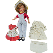 Shirley Temple 12 In. Doll -1957 Vintage with 3 Outfits