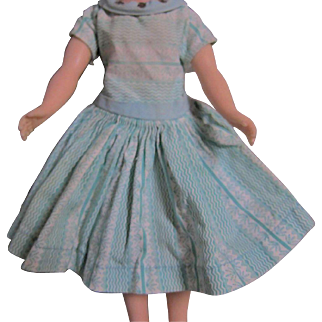 Turquoise Dress with Rhinestones - for Little Miss Revlon 10 inch Doll, Tagged Ideal