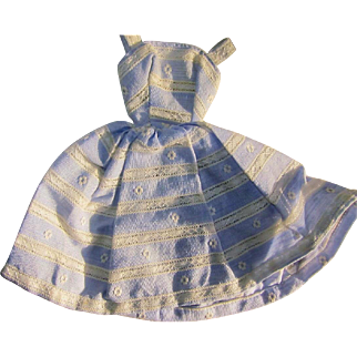 Barbie Suburban Shopper Blue Striped Dress, 1959-60, TM Label