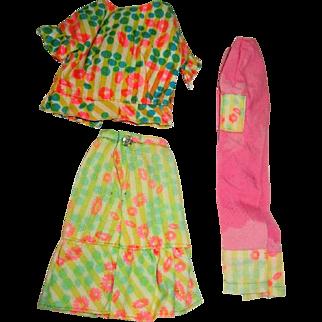 """Barbie Color Magic Outfit, """"Mix 'N Matchers"""" Blouse, Pants, Skirt"""