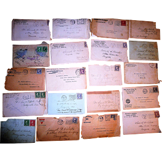 Letters + Ephemera of 1918, 30 + Items - Perryville MD + Media PA, Roberts Family