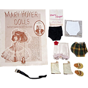 Mary Hoyer Vintage 1960 Catalogue + Doll Boots, Slippers, Girdle, Belt Accessories