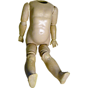 "Doll Body for Bisque Doll Head, Ball Jointed, 19"" Tall for Parts"