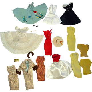 Barbie Doll Clothes Lot, Early 1960s