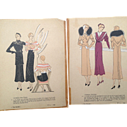 French Fashion Illustrations, Tres Parisienne 1932, Christiane + Regny