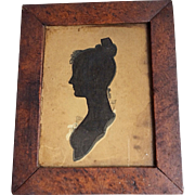 Silhouette of Woman, Tuck-Comb Hair, Brush Decoration, Hollow-Cut 1810-1830