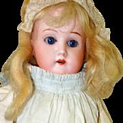 German Bisque Mabel Antique Doll, 14 Inch Blonde