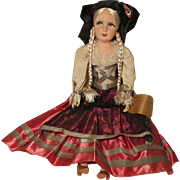 """French Bed / Boudoir Doll 18 1/2"""" W / Hang-tag and Cloth Label"""