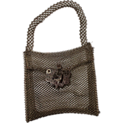 Miniature antique Silesian wirework purse circa 1830