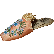 A Superb Victorian Silk and Beaded Thimble/Needle Case Slipper