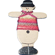 A Sweet And Unusual Little Snowman Thread Winder
