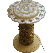 Extremely pretty, Good quality 19thC Mother of Pearl Spool Holder