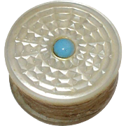 A Pretty 19th Century mother of pearl thread waxer