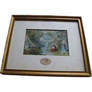 Delightful Framed Baxter Print of The Dripping Well, Hastings, England  Circa 1850