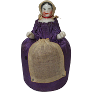 Unusual and Sweet 19th Century Sewing Maid Pin Cushion