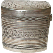 Interesting Early 19th Century Dutch Silver Cachou Box