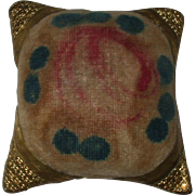 Wonderful Early 19th Century Theorem Work Pin Cushion
