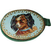 Delightful Victorian Pin Cushion With Dog Pictures