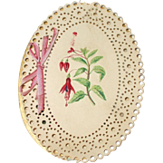 A Very Pretty Victorian Hand Painted and Embroidered Needle Case