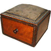 Useful and Attractive Early Victorian Small Sewing/Pincushion Box