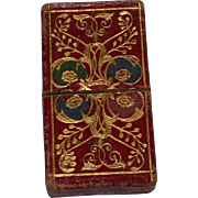 Sweet And Useful Victorian Red Leather Needle Case