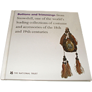 Interesting Book: Antique  Buttons and Trimmings From Snowshill by National Trust