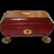 A Fine Regency Leather Work/Keepsakes Box  Circa 1830