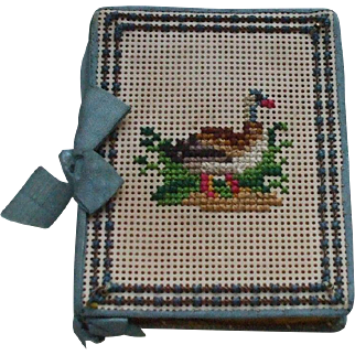 A Wonderful Victorian Embroidered Needle Case