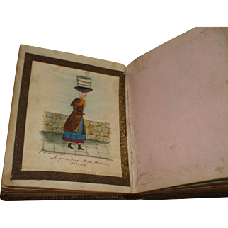 An Interesting Small Victorian Album Circa 1850